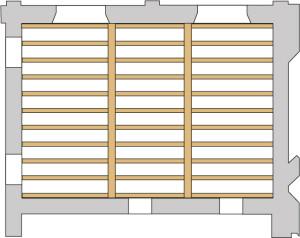 Recupero dei solai in legno: particolare sezione solaio